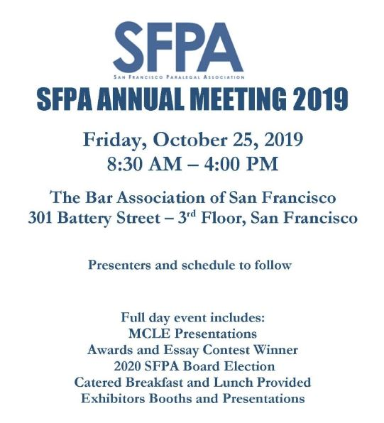 SFPA Oct Annual Meeting